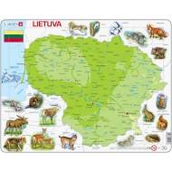 Dėlionė Lietuvos žemėlapis